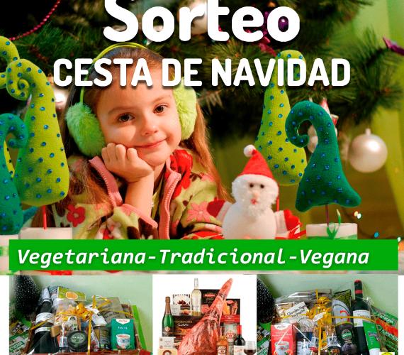 Sorteo cesta navidad tradicional vegana vegetariana 2018