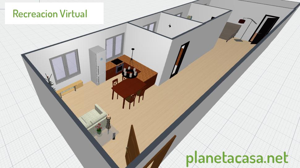 recreacion virtual vivienda planetacasa inmobiliaria malaga