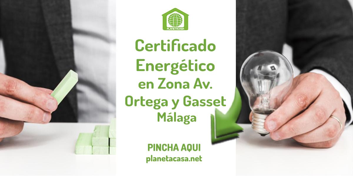Certificado energético Ortega y Gasset